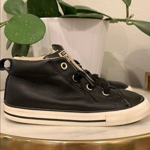Boy's Leather Converse
